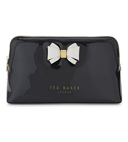 TED BAKER Abbie large bow wash bag (Black
