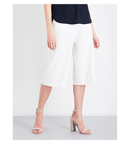 TED BAKER Oderat high-rise culottes (Ivory