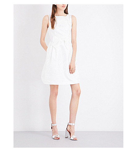 TED BAKER Deola fit-and-flare jacquard dress (White