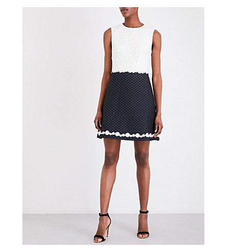 TED BAKER Olara lace dress (Dark+blue