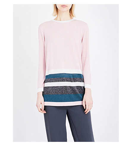 TED BAKER Zatta knitted jumper (Pale+pink