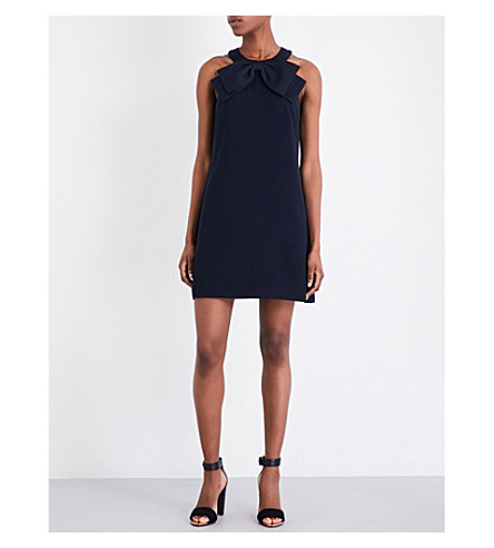 TED BAKER Trixia halterneck woven dress (Dark+blue