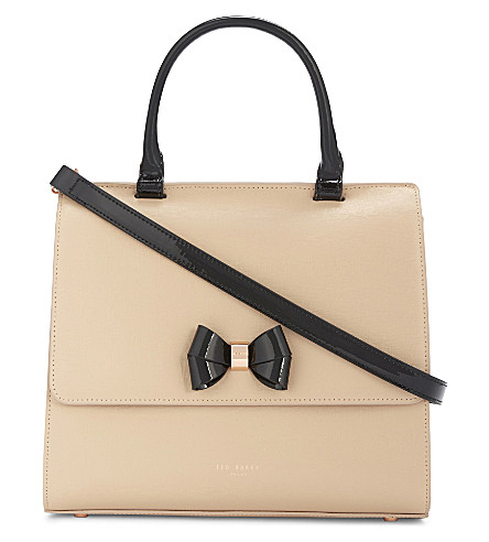 TED BAKER Aiba medium leather shoulder bag (Mink