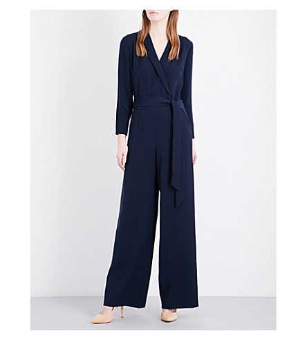 ... TED BAKER Tierly crepe wrap jumpsuit (Navy. PreviousNext