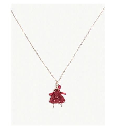 TED BAKER Carabel ballerina necklace (Oxblood