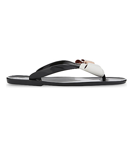 TED BAKER Rafeek bow jelly sandals (Black