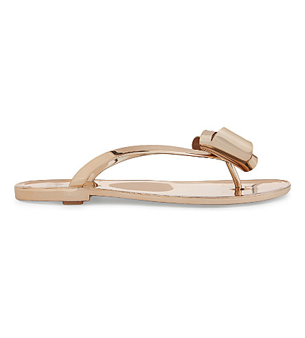 TED BAKER Rafeek bow jelly sandals