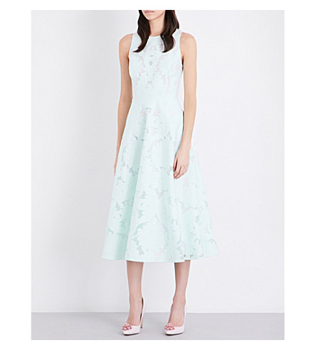 TED BAKER Roshi burnout dress (Light+green
