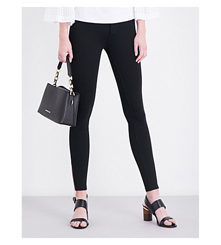 TED BAKER Fioni skinny mid-rise cotton-blend trousers (Black