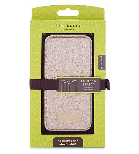 TED BAKER Glitsie mirror iPhone case (Baby+pink