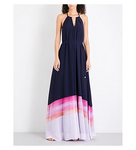 TED BAKER Amirah chiffon maxi dress (Navy