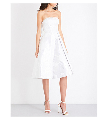 TED BAKER Chalea jacquard dress (White