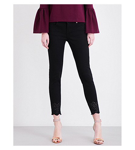 TED BAKER Maissee cropped high-rise jeans (Black