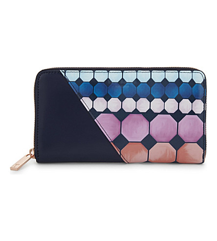 TED BAKER Arrica mosaic leather matinee purse (Navy