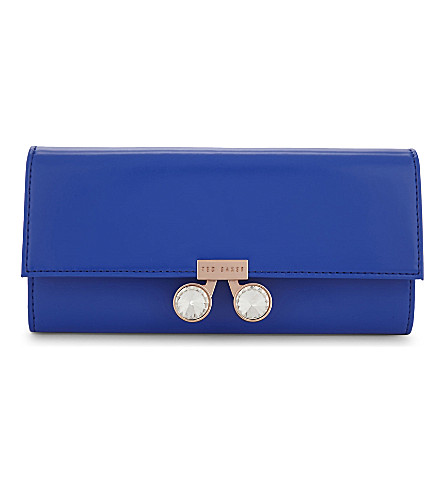 TED BAKER Eleni leather matinee purse (Mid+blue