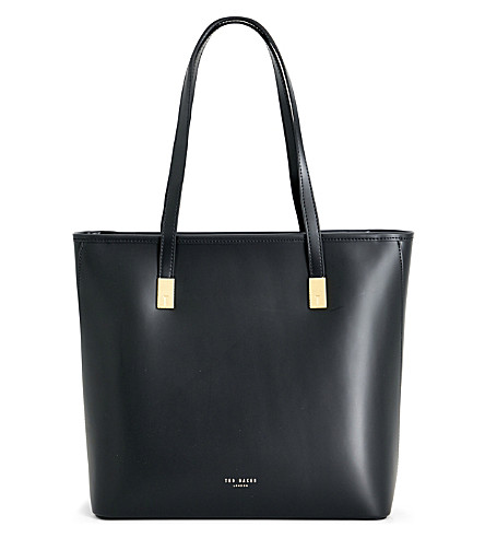 TED BAKER Leather tote (Black