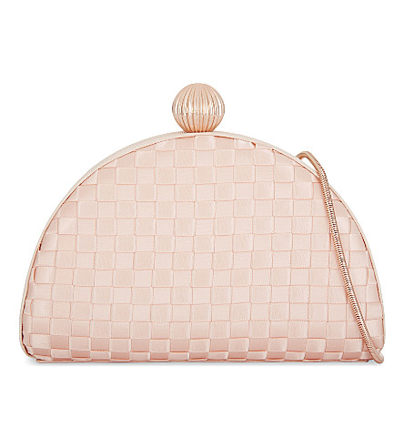 TED BAKER Woven clutch (Pale+pink