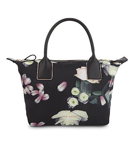 TED BAKER Kensington floral small tote (Black