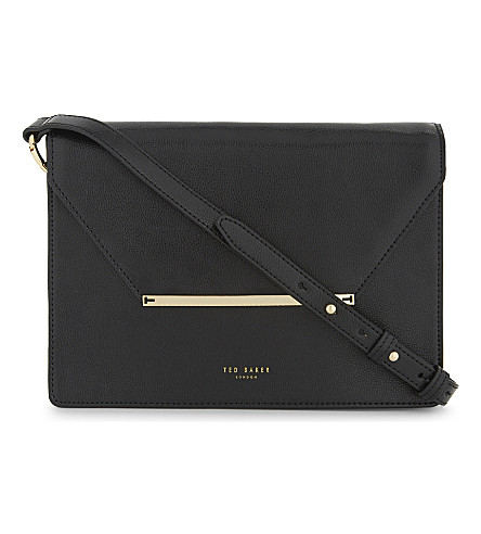 TED BAKER Magsie grained leather cross-body bag (Black
