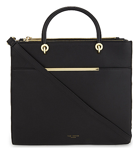 TED BAKER Leather shoulder bag (Black