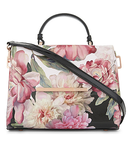 TED BAKER Petall Painted Posie small shoulder bag (Baby+pink