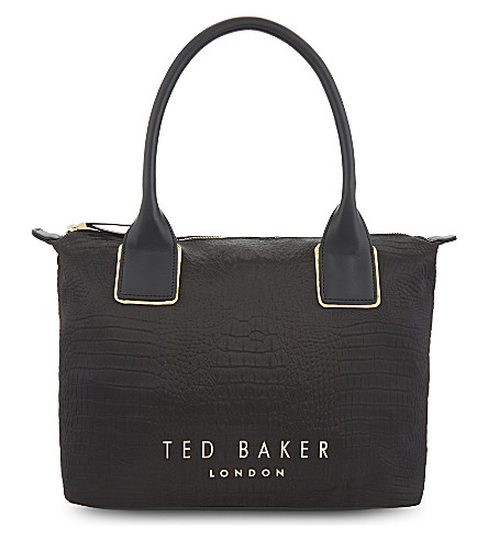 TED BAKER Exotic nylon tote bag (Black