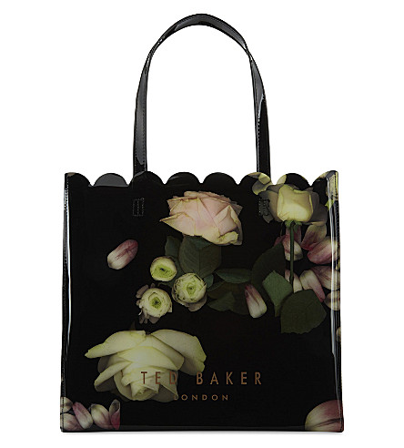 TED BAKER Kensington floral large shopper (Black