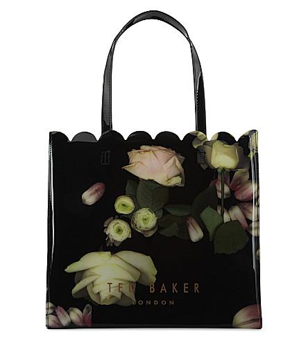 TED BAKER Kensington floral large shopper (Black