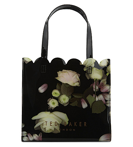 TED BAKER Kensington floral small shopper (Black