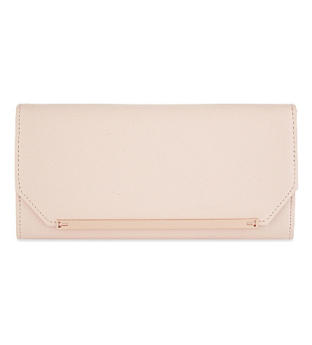 TED BAKER Delia leather matinee wallet (Baby+pink