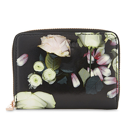 TED BAKER Kensington floral mini purse (Black