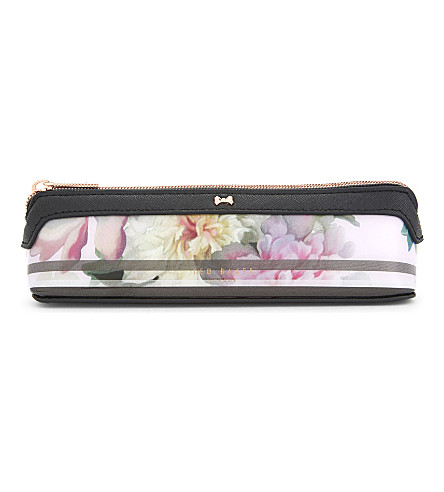 TED BAKER Painted posie pencil case (Baby+pink