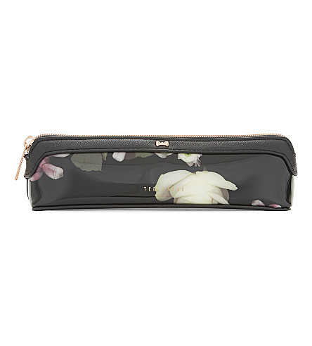 TED BAKER Liah Kensington floral pencil case (Black