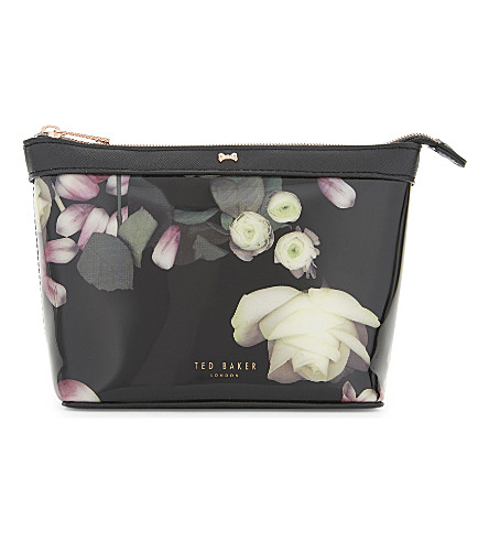 TED BAKER Kensington patent wash bag (Black