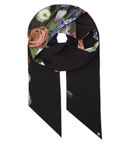 TED BAKER Kensington skinny scarf (Black