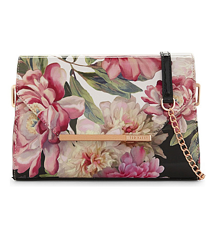 TED BAKER Paiige painted posie cross-body bag (Baby+pink