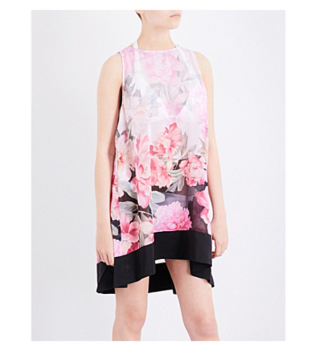 TED BAKER Adisson floral chiffon cover-up (Baby+pink
