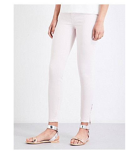 TED BAKER Fernne skinny high-rise jeans (Baby+pink