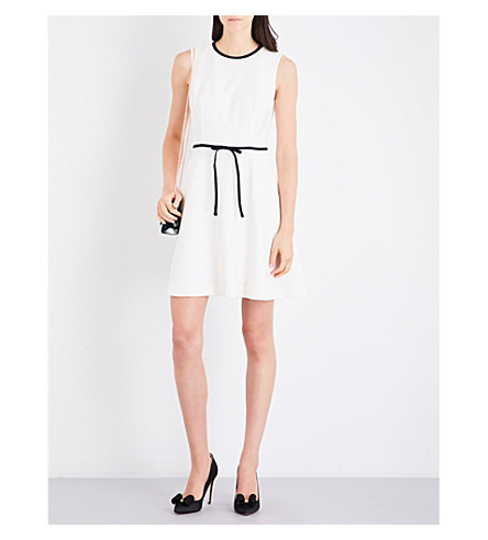 TED BAKER Sleeveless crepe shift dress (Ecru