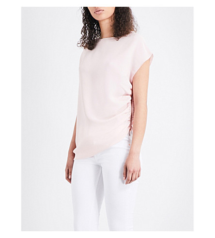 TED BAKER Britla draped crepe top (Baby+pink