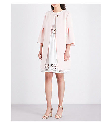 TED BAKER Bell-sleeved woven coat (Baby+pink