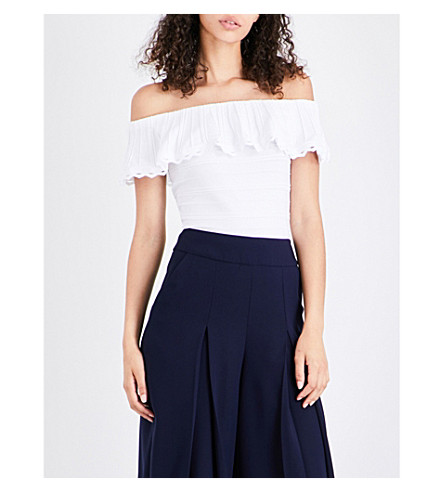 TED BAKER Laurili off-the-shoulder knitted top (White