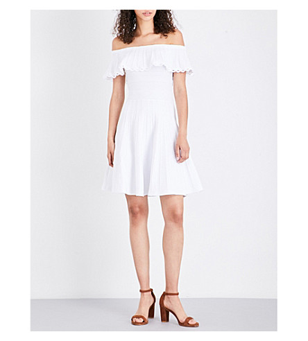 TED BAKER Off-the-shoulder skater dress (White