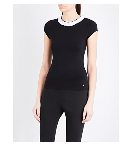 TED BAKER Sillia stretch-jersey T-shirt (Black