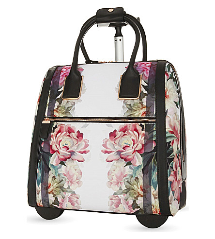 TED BAKER Naoimie painted posie two-wheel suitcase 43cm (Baby+pink