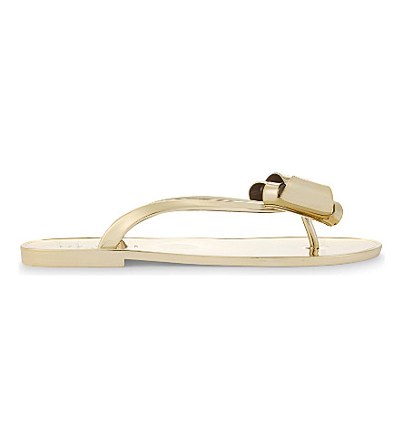 TED BAKER Glamaar flip flops (Gold+colour