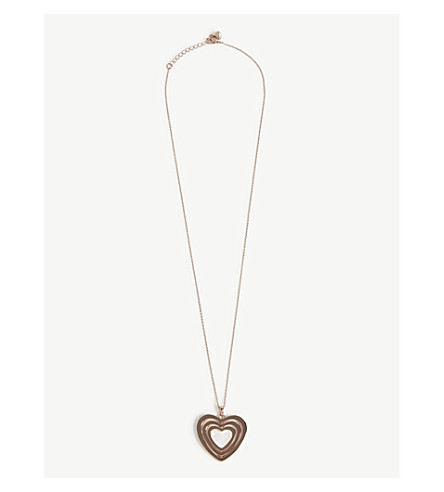 TED BAKER Swarovski crystal spinning heart pendant (Clear