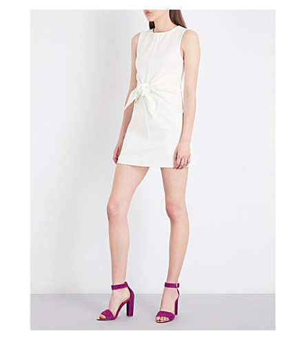 TED BAKER Colour by Numbers Papron stretch-crepe mini dress (Ivory