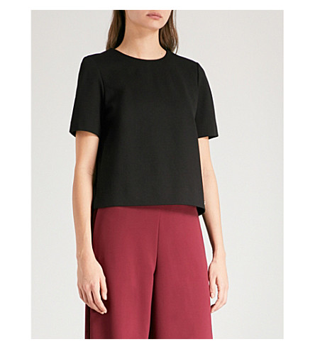 TED BAKER Colour by Numbers Naevaa woven top (Black