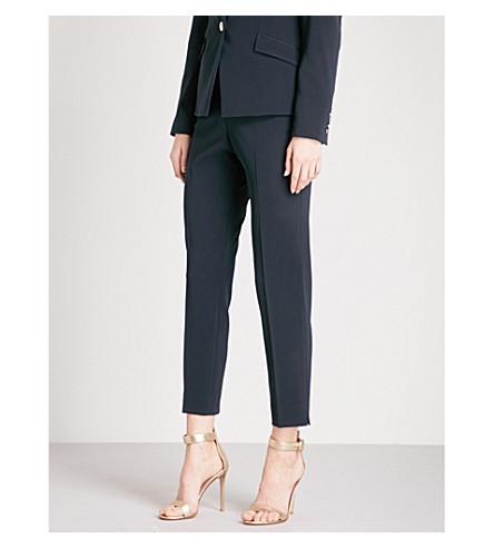 TED BAKER Ulmiat Ottoman skinny crepe trousers (Navy